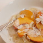 Peaches and Cream Hot Cereal