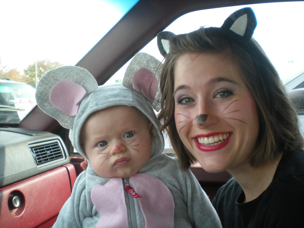 halloween 2011 involved a new addition to a family and with a baby at not yet 3 months i had to pull together a very last minute costume that involved